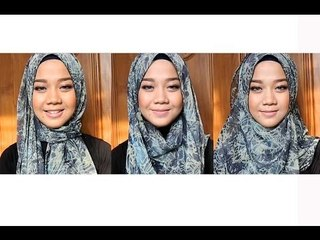 Everyday Hijab Tutorial - Long Scarf with Pattern   Cheryl Raissa