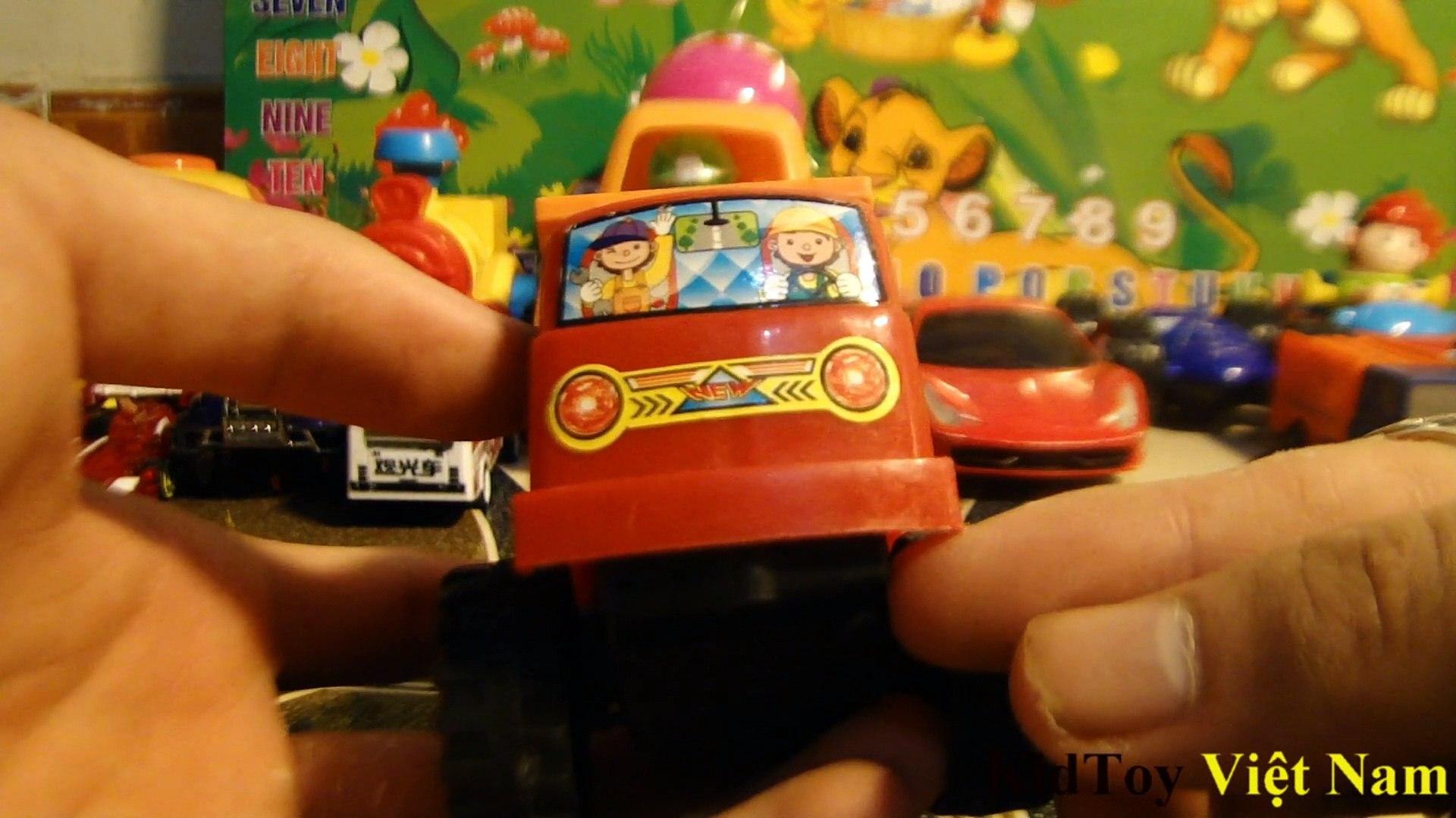 Khám phá các loại xe ô tô nhiều màu sắc: xe bus, xe đua, xe tải, xe cần cẩu, xe siêu nhân, xe robot
