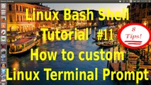 GNU/Linux Bash Shell Tutorial #11- How to custom Linux shell terminal prompt .8 tips and tricks