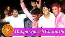 Namish Taneja aka Lakshya at Ankit Bathla aka Dhruv's Ganpati Visarjan!