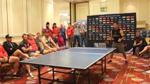 Canada Rugby team show of ping pong skills ahead of Ireland match