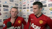 Manchester City Vs Manchester United 2-3 - Wayne Rooney & Robin Van Persie - December 9 2012