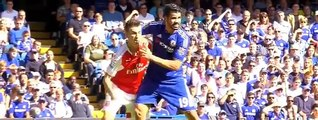Diego Costa (Fight vs Arsenal- Gabriel Red Card) Hits Laurent Koscielny in Face