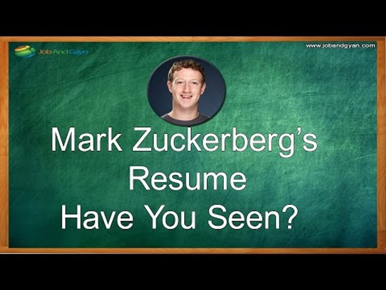 Facebook Ceo Mark Zuckerberg S Resume Have You Seen Video Dailymotion