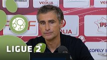 Conférence de presse Dijon FCO - Havre AC (2-1) : Olivier DALL'OGLIO (DFCO) - Thierry GOUDET (HAC) - 2015/2016