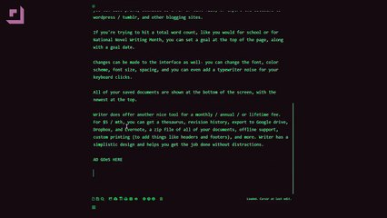 Simple Distraction Free Writing Site Makes You Feel Like a Hacker