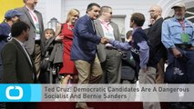 Ted Cruz: Democratic Candidates Are A Dangerous Socialist And Bernie Sanders