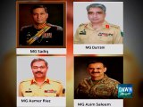 Four army officers including DG ISPR Asim Bajwa made three-star generals