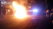 Fires Started by Enthusiastic Revelers in Streets of Seattle