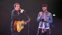 Gad Elmaleh s'incruste au concert de M. Pokora