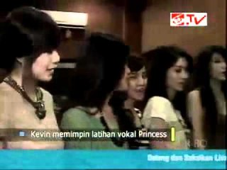 Kevin aprilio dan PRINCESS (Girl Band) - Status selebritis