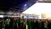 Les fans irlandais deviennent fou au moment de la victoire du japon contre l'afrique du sud - Coupe du monde de Rugby 2015