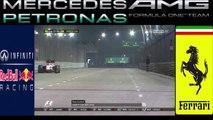 Un homme s'introduit sur le circuit pendant la course de F1 à Singapour