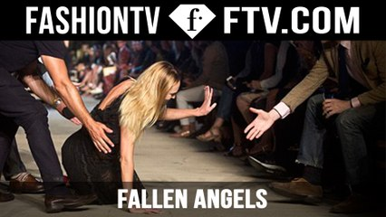 Candice Swanepoel & Pooja Mor Fall during Givenchy Show! | FTV.com