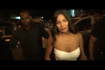 Poonam Pandey sizzling gorgeous in an eye popping low neck tube gown