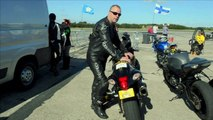 World motorcycle wheelie speed record broken