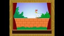 Une poule sur un mur, qui picore du pain dur