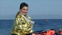 Refugees rescued off the coast of Lesbos