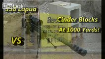 338 Lapua vs Cinder Blocks at 1000 Yards!