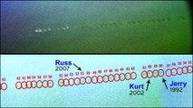The Neptune | Insane Stone Skipping! 2014 World Record  Kurt Steiner 88 Skips with Count Overlay