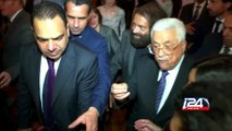 Le président de l'autorite palestinienne Mahmoud Abbas à Paris