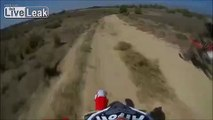 Dirt Biker runs over his friend