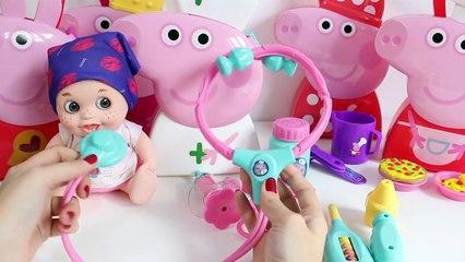 Peppa Pig Chef Peppa Pig Doctors Case Peppa Nurse Peppa Pig Hair Style Juguetes de Peppa