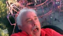 Dad Rides Roller Coaster For the First Time  First Timer