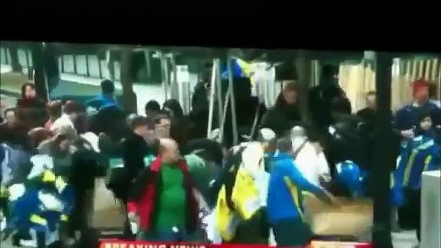 Boston Marathon bombing looters stealing marathon jackets,