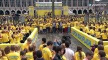 Belgique :  gigantesque bataille de ballons d'eau !