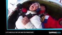 Une grand-mère de 93 ans fait un impressionnant saut en parachute