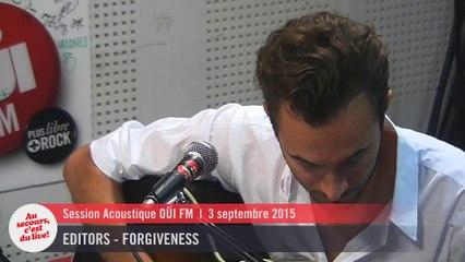 Editors - Forgiveness - Session acoustique OÜI FM