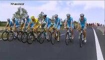 Un spectateur suit les coureurs du Tour de France en roue arrière !
