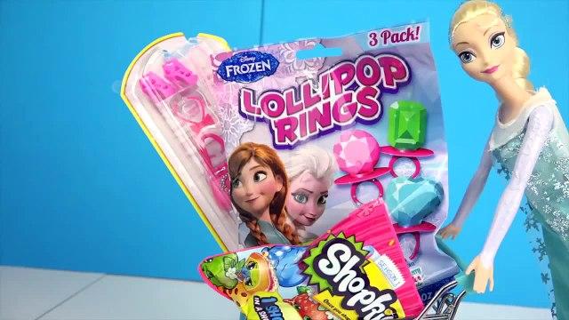 Frozen ELSA SHOPPING SURPRISE ★ Frozen Lollipops, Shopkins, Barbie Shoes, Bags, Necklaces, Toys