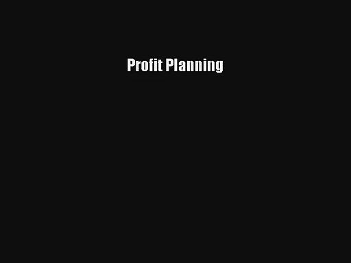 Profit Planning Online