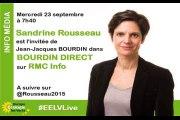Sandrine Rousseau chez Jean-Jacques Bourdin sur RMC Info