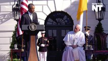 """Obama Welcomes Pope Francis and Calls for """"Mercy"""" for Refugees"""