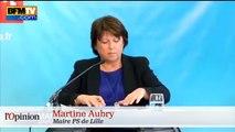 Martine Aubry cible Emmanuel Macron avec les régionales en tête