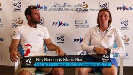 Rencontre avec Besson et Riou Nacra 17