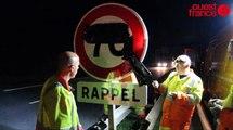 Rocade de Rennes : chaque nuit, les hommes de la Diro changent les panneaux de vitesse