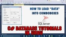 P(7) C# Database Tutorials In Urdu - How to load Data Into ComboBoxes