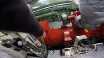Demarrage d'un moteur de bateau remorqueur - Moteur diesel Tugboat 5300 chevaux