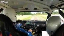 Nasty Head-Snapping Rally Car Crash - A Case for HANS