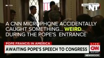 CNN Hot Mic Catches Woman 'Plotting' To Throw Shoe At Pope