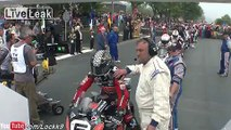 Crazy speeds crazy sport on board Motorcycle 200 MPH
