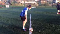 Your very own Assistant Manager doing the dizzy penalty challenge