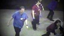 Surveillance cameras capture lifesaving team effort