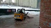 Tractor Plows Water ..........................in Russia