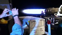 Mind Blowing - Technician Places His Hand on an F-18 Engine Nozzle on Full Afterburner