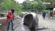 Trois semaines pour réaliser sept sculptures monumentales